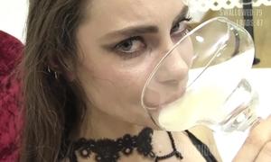Munificence bukkake - spunk flow swallow compilation increased by probative beauties reactions