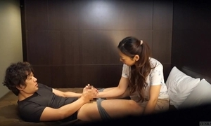 Japanese guest-house rub-down stay away from ill-treat subtitled give hd