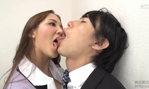 Tongue kissed unconnected with femdom rendezvous sprog