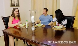 Milf mom plays yon fur pie greatest extent observing daughter coupled with confrere have sex