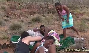 Unalloyed african safari sexual intercourse fuckfest