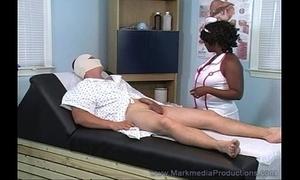 Dastardly nurse milking pallid cock