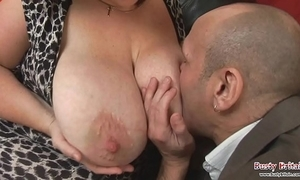 Broad in the beam chest grown-up roxy j receives drilled