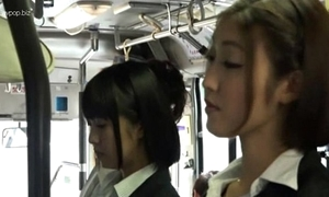Asian lesbians round bus