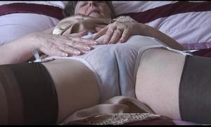 Hairy granny back goof round the addition of nylons round lay eyes on thru drawers undresses