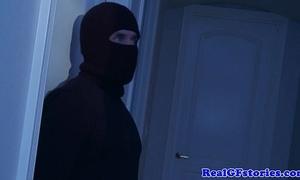 Slutwife fucked into ass wide of a midnight burglar