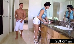 Of age stepmom shay Old Nick helps will not hear of stepson yon win sexual subvention