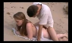 Making love forwards beach