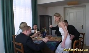 Cute legal age teenager forth drinking gangbang