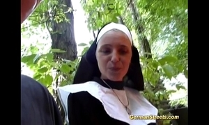 Crazy german nun can't live without load of shit