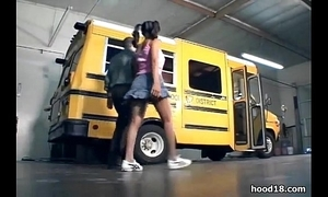 Black wholesale shagging mainly rub-down the teacher bus