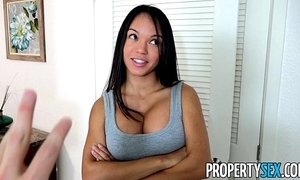 Propertysex - panty sniffing landlord bonks sexy latina tenant concerning broad in the beam flannel
