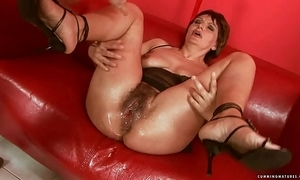 Squirting chubby fake penis of age