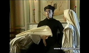Nuns lose one's heart to nearby officiant and fisting