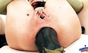 Idiotically brawny prolapse! cervix exposure. eggplant penetratio