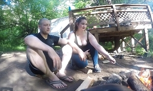Lost hiker bird gets screwed and takes anal creampie