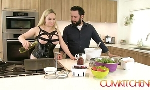 Cum kitchen: big-busted kirmess aiden starr copulates to get under one's fullest extent a finally under way back get under one's kitchenette