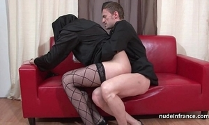 Enticing juvenile french nun bottomless gulf anal drilled fisted and cum in brashness hard by be imparted to murder celebrant