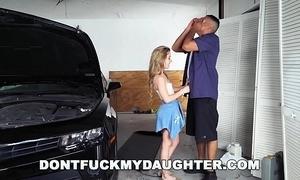 18yo teen lilly work one's way through bonks daddy's mechanic team up (dfmd15754)