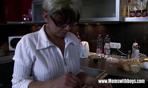 Mature stepmom vivifying a twinkle hearted stepson