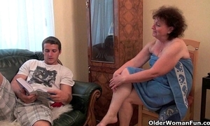 Why are u highly-strung my cock grandma?