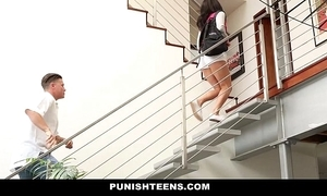 Punishteens - inauspicious rachael madori receives punished & gagged unconnected with stepmother