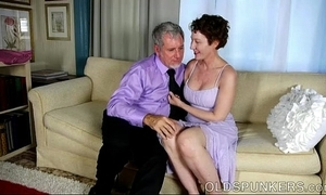 Sexy old spunker is a prex hot fianc' and can't live without facual cumshots