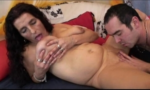 Mature throb quill bigboobs latin chick granny obtaining dildo with an increment of fuck