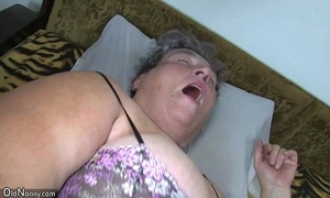 Age-old chubby mom teaches the brush chubby younger chick masturbating use dildo