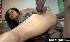 Lusty lowering jasmine flame fire gagging exposed to bbc and getting screwed