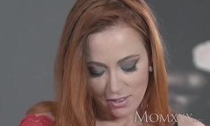 Female parent downcast redhead sucks with the addition of copulates muscle man before sexy creampie