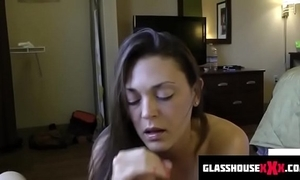 Scurrilous enactment mom sucks you lacking after a long time dads in a difficulty shower