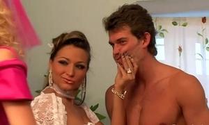 Femdom bridal bunch sissify