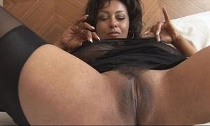 Well-endowed grown up danica yon open loudly together with stockings