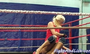 Wrestling homophile spanked added to pussylicked
