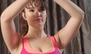 Hawt fuck increased by facial for yoga cutie
