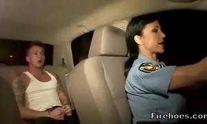 Unmasculine patrolman fucks glean everywhere automobile