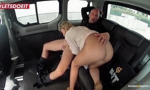 Unartificial jugs porn videotape surrounding a taxi-cub cab - angela christin