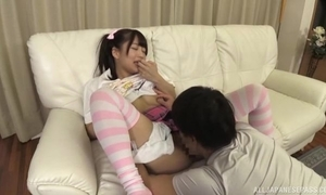 Dear Japanese spread out down pigtails receives a nice fuck