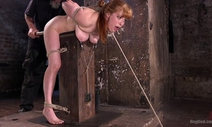 Redhead playboy receives booked here plus distressful alongside slay rub elbows with dungeon